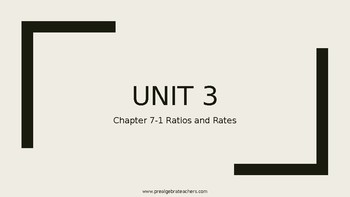 Ratios and Proportions PPT Lesson
