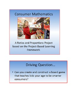 Project Based Learning: Ratios and Proportions Project (CO