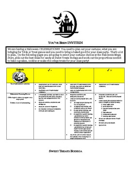 Ratios and Proportions Project (CCSS 7.RP.1 and 7.RP.3)
