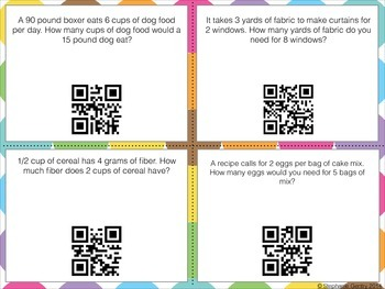 Ratios and Proportions QR Code Task Cards