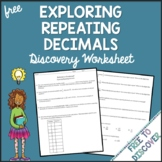 Repeating Decimals Discovery Worksheet