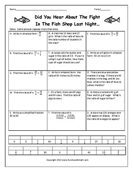 Rates, Ratios and Proportions Review Worksheet by Funsheets4math