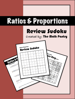 Ratios and Proportions - Review Sudoku