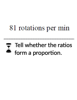 Ratios and Proportions Scavenger Hunt