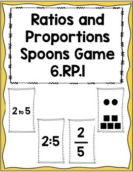 Ratios and Proportions Spoons Game 6.RP.1