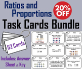 Ratios and Proportions Task Cards Bundle (6th 7th Grade)