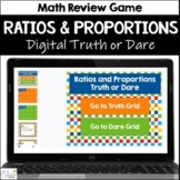 Ratios and Proportions Truth or Dare Digital Math Game
