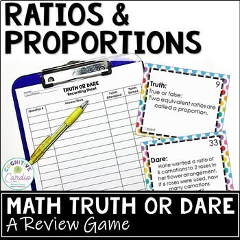 Ratios and Proportions Truth or Dare Math Game