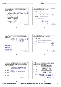 Ratios and Proportions - Unit Assessment or Study Guide