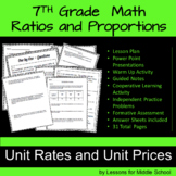 Ratios and Proportions - Unit Rates and Unit Prices - 7th Grade Math