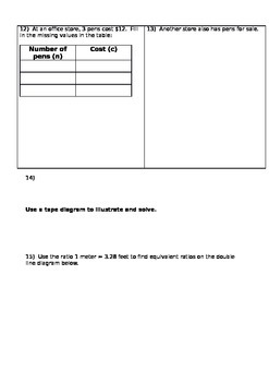 Ratios and Proportions practice worksheet