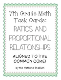 Ratios and Rates 7th Grade Math Task Cards (Aligned to Common Core)