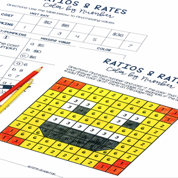 Ratios and Rates Color By Number
