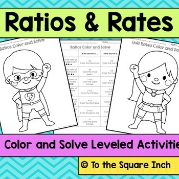 Ratios and Rates Color and Solve
