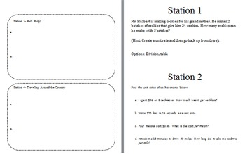 Math Ratios and Rates Grade 6 Notes, Practice, and Review