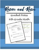 Ratios and Rates Guided Notes Bundle