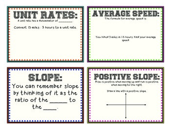 Ratios and Rates Interactive Flip Book: 7th grade math literacy