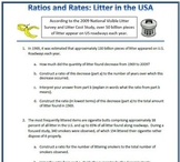 Ratios and Rates: Litter in the USA