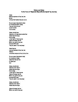 Ratios and Rates Math Song