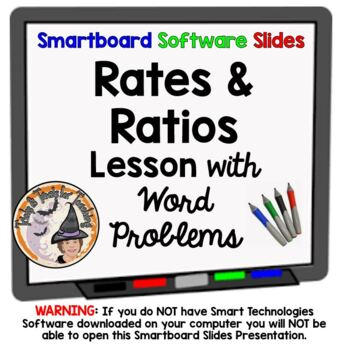 Rates and Ratios Smartboard Lesson with Applications