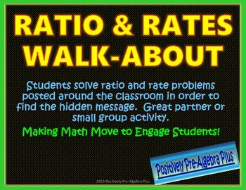 Ratios and Rates Walk-About Activity