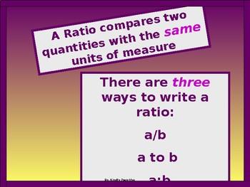 Algebra Power-Point:  Ratios and Rates in Algebra