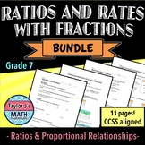Ratios and Rates with Fractions Worksheet Bundle