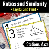 Similarity and Proportions Stations Maze Activity