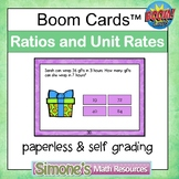 Ratios and Unit Rates Digital Interactive Boom Cards