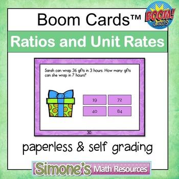 Ratios and Unit Rates Digital Interactive Boom Cards
