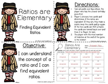 Ratios are Elementary- Matching Equivalent Ratios