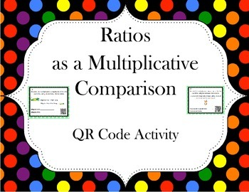 Ratios as a Multiplicative Comparison