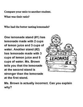 Ratios in Lemonade