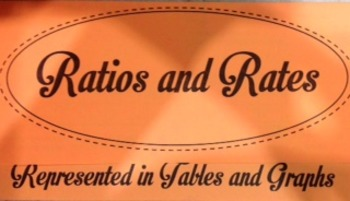 Ratios in Tables and Graphs Foldable