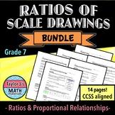 Ratios of Scale Drawings Worksheet Bundle