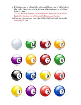 Ratios with Billiard Balls