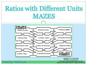 Ratios with Different Units MAZES