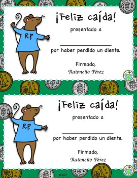 Ratoncito Perez Tooth Traditions Printable Spanish Minibook & Activity Pack