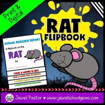 Science Halloween Activities (Rat Research Flipbook)