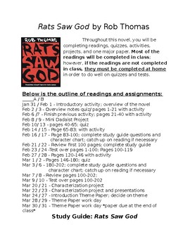 Rats Saw God Syllabus/Study Guide