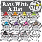 Rats With A Hat Rainbow Clip Art