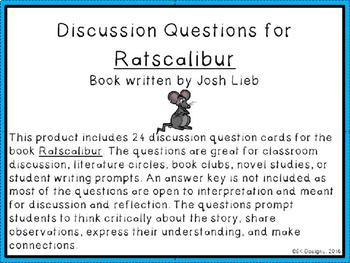 Ratscalibur Discussion Question Cards