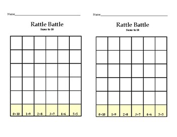 Rattle Battle-Sums to 10