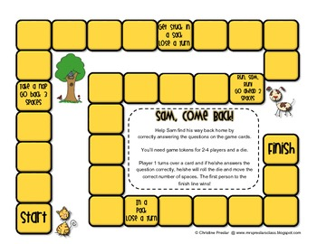 Reading Street - Rattle, Roll, and Read Activity Pack - {Sam, Come Back!}