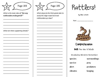 Rattlers Trifold - Treasures 5th Grade Unit 2 Week 2 (2009)
