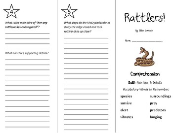 Rattlers Trifold - Treasures 5th Grade Unit 2 Week 2 (2011)