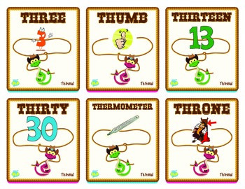 """Rattlesnake Roundup """"CH"""", """"SH"""", and """"TH"""" Sounds Game"""