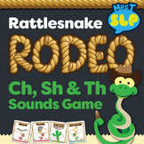 """""""CH"""", """"SH"""", and """"TH"""" Sounds Rattle Snake Round up Game"""