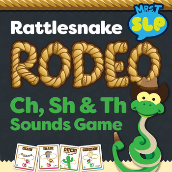 "Rattlesnake Roundup ""CH"", ""SH"", and ""TH"" Sounds Game"