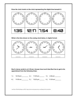 Raul Tells time | Telling time practice lesson
